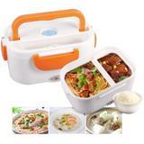 Marmita Elétrica Lunch Box Lancheira com Divisórias Talher Bivolt Cores Variadas