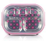 Marmita rosa Fitness Com 5 Compartimentos Para Alimentos - Jacki design