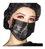 Mascara Descartavel Preta Com Elastico 50 und - Protdesc