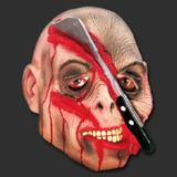 Máscara Machadinha Terror Carnaval Halloween - Spook Inteira