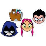 Máscara Personagens Jovens Titãs 08 unidades Festcolor - Festabox