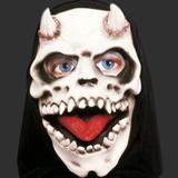 Máscara Terror Spook Látex Capuz - Caveira c/ Chifre