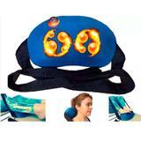 Massageador Shiatsu, pescoço, Lombar, magnético e Infravermelholongo - azul - 30x20x11cm - bivolt - Tsuyoi