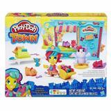 Massinha Play Doh-town Playset Pet Shop Hasbro B3418