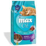 Max Cat Nuggets de Carne, Frango e Peixe para Gatos Adultos- 3 Kg - Total