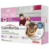 Medicamento para cachorros e gatos  antipulgas confortis de 2,3 a 4,5 p/ cachorro e 1,4 a 2,8 kg p/ gatos - Elanco