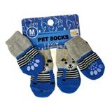 Meias Para Cães Gatos Cachorros Pet Shop Cinza e Azul - Elo