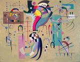 Meio Acompanhado - Wassily Kandinsky - Tela 30x38 Para Quadro - Santhatela