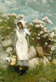 Menina Colhendo Louros - Winslow Homer - Tela 50x73 Para Quadro - Santhatela