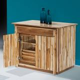 Mesa balcão rústico sem banquetas madeira maciça Móveis Machado