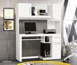 Mesa de Computador/Escrivaninha Everest Cor Branco - Edn moveis