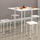 Mesa Dobrável com 4 banquetas  Branca - Ws