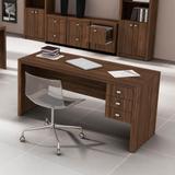 Mesa Escritório 3 Gavetas Me4113 Nogal - Tecno mobili