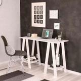 Mesa/Escrivaninha Para Computador Cavalete Delta Branco - Politorno