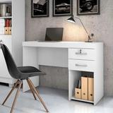 Mesa Office Candian Iara Branca - JCM Móveis