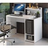 Mesa para Computador com Prateleira S973 Kappesberg - Branco Brilho