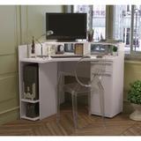 Mesa para Computador de Canto 1 Gaveta 1 Porta S975 Kappesberg - Branco