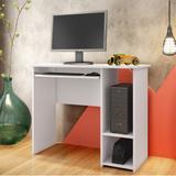 Mesa para Computador Escrivaninha 2 Prateleiras 74 x 45 cm Branco - Art  In Móveis - Art in móveis