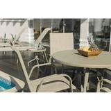 Mesa Summer com Tampo de Alumínio Ø 105 cm - c/ furo para ombrelone Mestra Móveis
