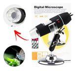Microscópio Digital C/ Zoom 1000 x Reais Câmera 2.0 Mega Pixels Usb 6 Leds Original Lupa Profissional - XT-2036 - Xtrad