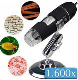 Microscópio Digital Usb Zoom 1600x Camera 2.0mp Profissional - Playshop eletronicos