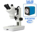 Microscópio Estereoscópio com Câmera FULL HD Stand Alone - Digilab