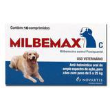 Milbemax Blister Com 10 Comprimidos 5 A 25 Kg - Elanco