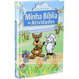 Minha bíblia de atividades infantil para crianças capa dura colorida - Armazem