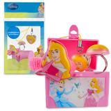Mini Baú de Princesa Aurora com Anel Pingente e Maria Chiquinha - Cim toys