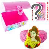 Mini Baú Princesas com Adesivo e Chuquinha Bela Princesas Disney - Cim