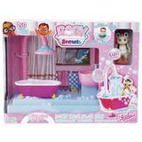 Mini Boneca e Acessórios Baby Secrets Banheiro - Candide