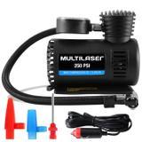 Mini Compressor De Ar Automotivo Multilaser Au601 12V 3 Adaptadores Pneus Moto Carro Bicicleta Bolas