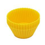 Mini forma para cupcake de silicone com 6 peças amarelo / niazitex