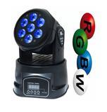 Mini Moving 7 Leds Iluminação Rgbw DMX Painel Digital Strobo - HL-6818-7 - Importado xz