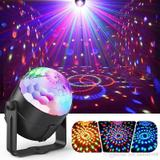Mini Rgb Bola Maluca Colorida Led Party Club Balada Dj