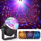 Mini Rgb Bola Maluca Led Party Color Disco Club Balada Dj - Rpc