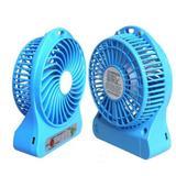 Mini ventilador 14cm Portátil Com Bateria Recarregável USB - Azul - Knup