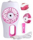 Mini Ventilador Climatizador Umidificador Com Bateria Recarregavel Para Escritorio Casa Ar Rosa - Braslu