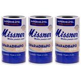Missner Esparadrapo Impermeável Bege 10cmx4,5m (Kit C/03)