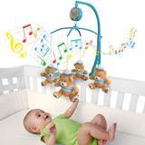 Móbile em Pelúcia Giratório Musical De Bebê Marinheiro Urso - Kitstar