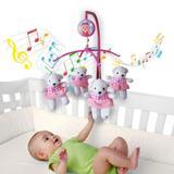 Móbile Giratório Musical Berço Bebê Menina bailarina Rosa - Kitstar