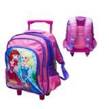 Mochila escolar infantil grande com rodinhas menina princesa com alça para costas - Gimp
