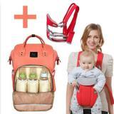 Mochila Maternidade + Kit Com Canguru Transporte Bebê Bolsa Térmica Impermeavel Bebê - Bny