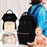 Mochila Multifuncional Mamãe Térmica Bebê Reforçada Maternidade Bolsos Trás E Frente Preta - Cybee