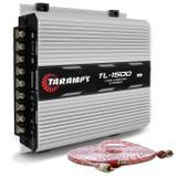 Módulo Amplificador Taramps TL 1500 Class D 390W RMS 3 Canais 2 Ohms + Cabo RCA Stetsom 5M 2mm² - Prime
