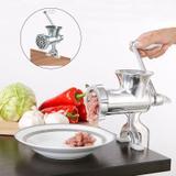 Moedor De Carne Manual N10 Cozinha Criativa Maquina De Moer em Aluminio (BSL1914) - Ab midia