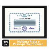 Moldura para Certificado Diploma 20x30cm Quadro Preto e Branco com Vidro - Decore pronto