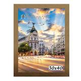 Moldura Porta Retrato 30x40 Dourado - Santamaria molduras