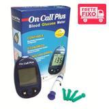 Monitor de Glicose Semi Completo sem tiras (Lancetador/10 lancetas/Solução Controle) - On Call Plus
