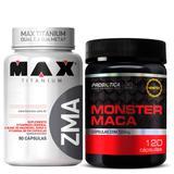 Monster Maca Probiótica + Zma 90 cáps Max Titanium